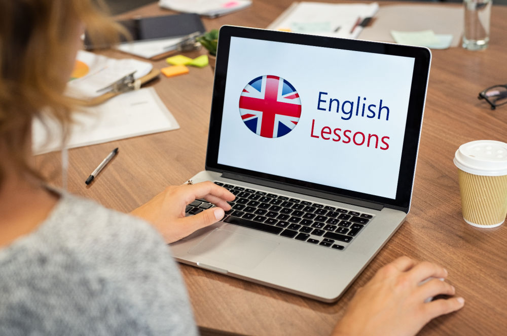 Learn English with Online courses.